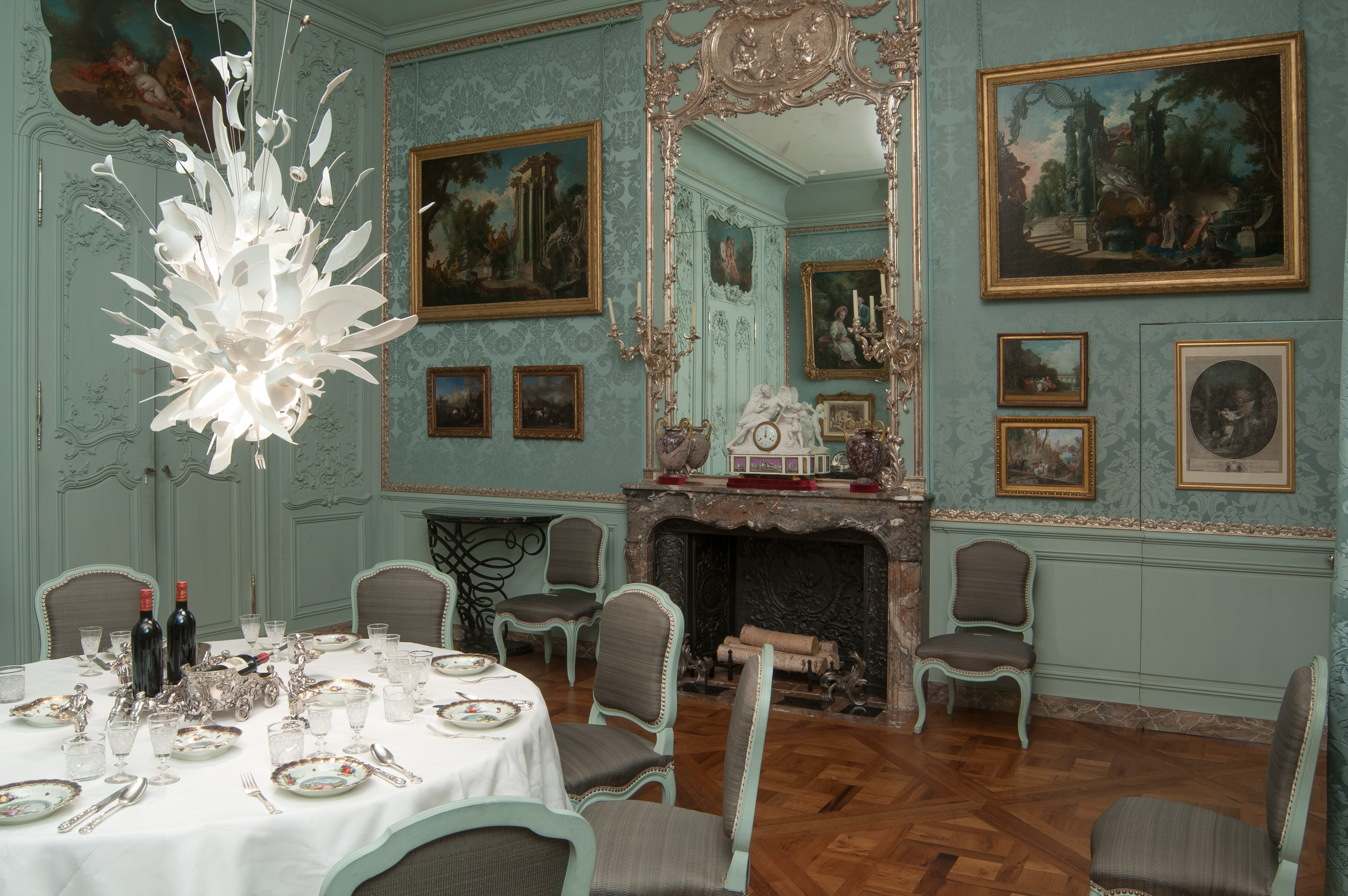 file:blue dining room at waddesdon manor - wikimedia commons