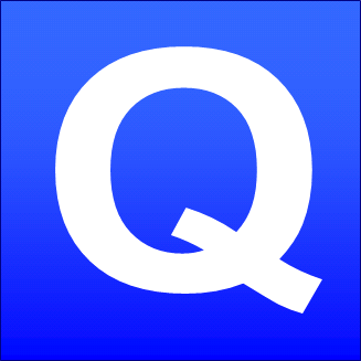 The q sign gomerpedia blue square qg reheart Image collections