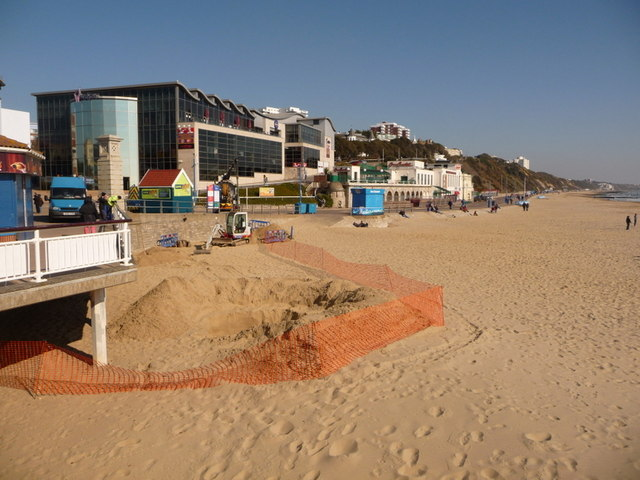 Bournemouth, water works on the beach - geograph.org.uk - 1737414.jpg