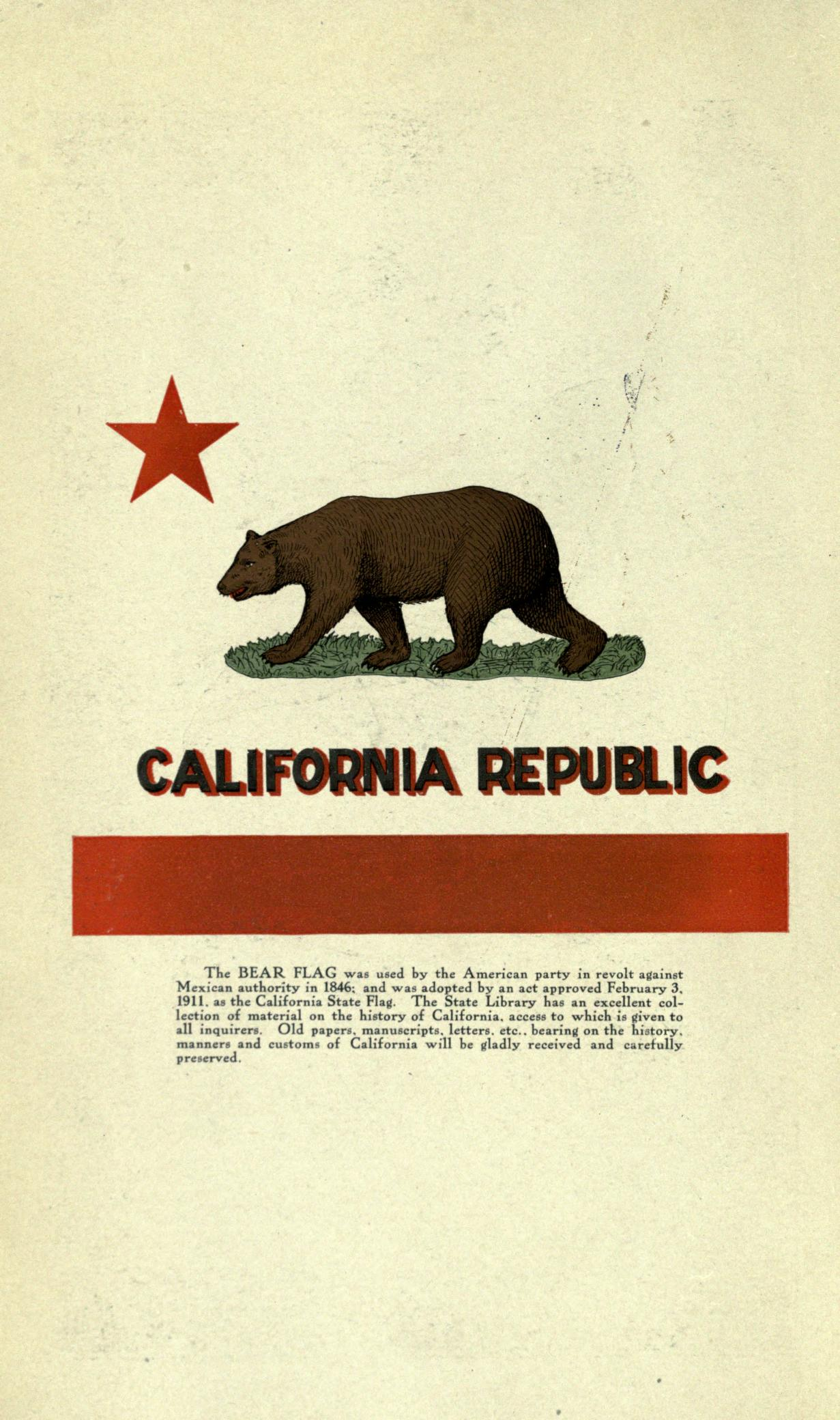 FileCalifornia Republic Flag California Blue Book 1911
