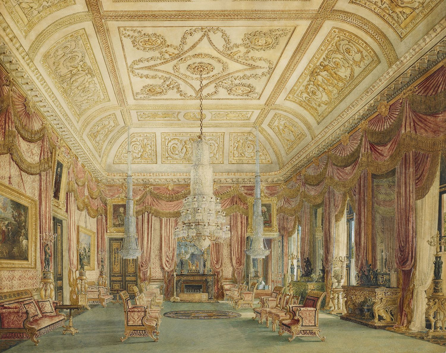 File Carlton House Crimson Drawing Room By Charles Wild