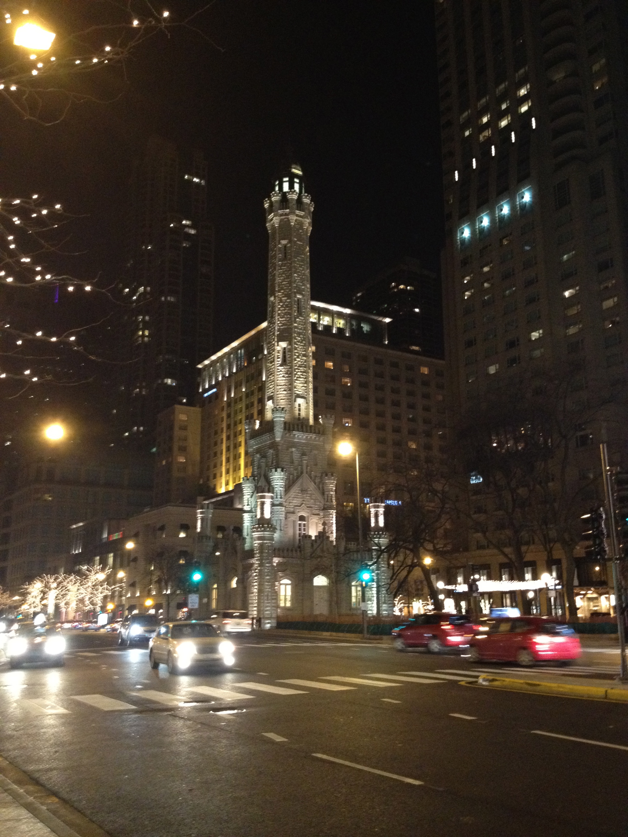 filechicago avenue water tower and pumping station on christmas eve 2011jpg - Chicago Christmas Station