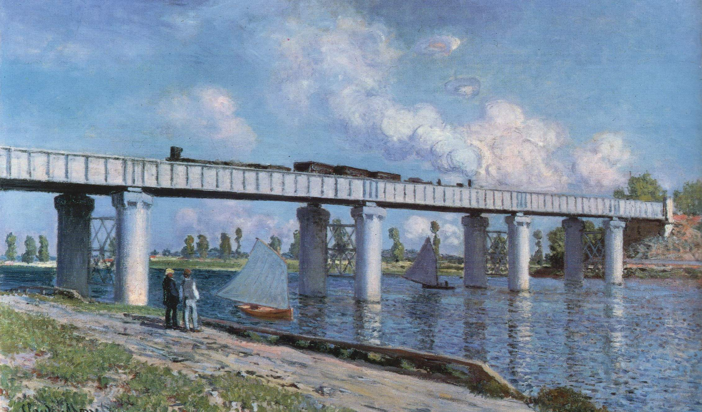 Claude Monet The Iron Track Bridge at Argenteuil
