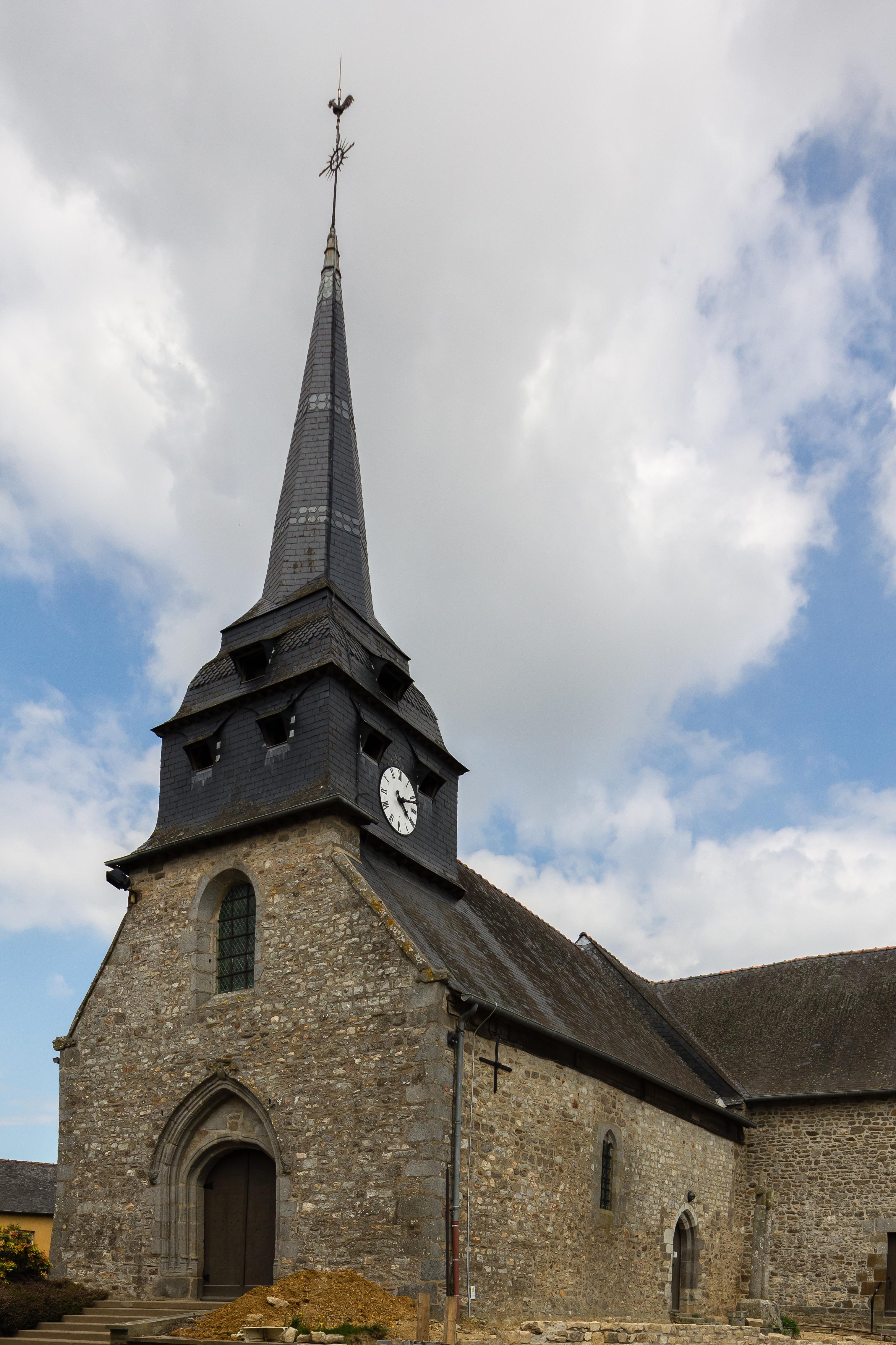 Narbonne Version 3 1: File:Clocher De L'église Saint-Melaine De Vignoc, France