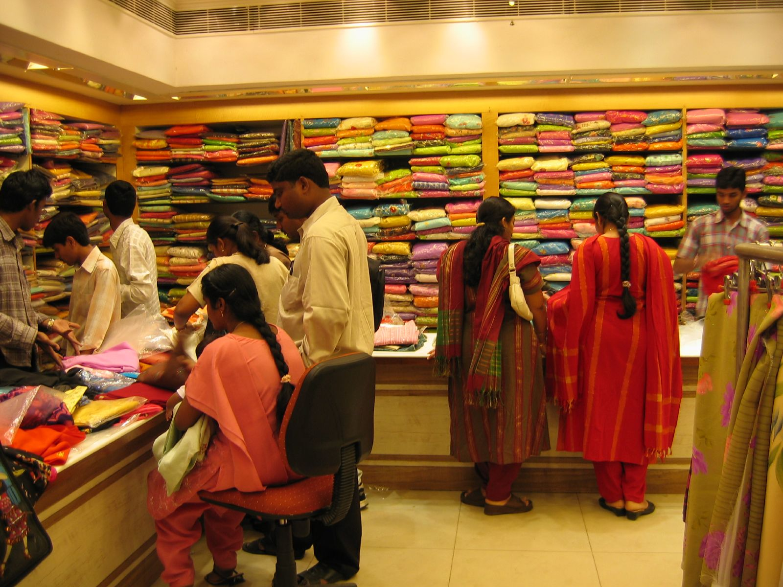 Clothes shop interior design in india