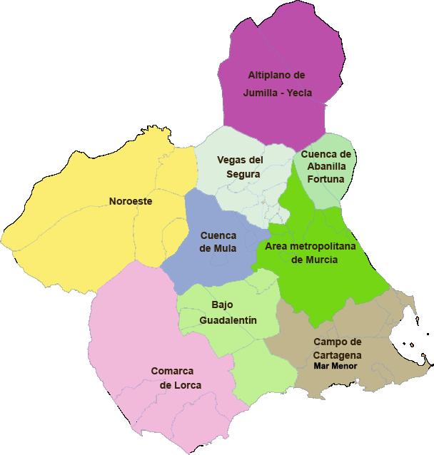 Mapa Region De Murcia.File Comarcas R Murcia Atlas Digital Png Wikimedia Commons