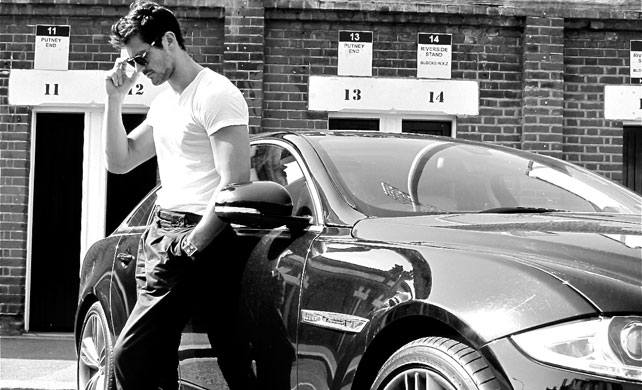 David Gandy with Jaguar XJ Supersport (2012)