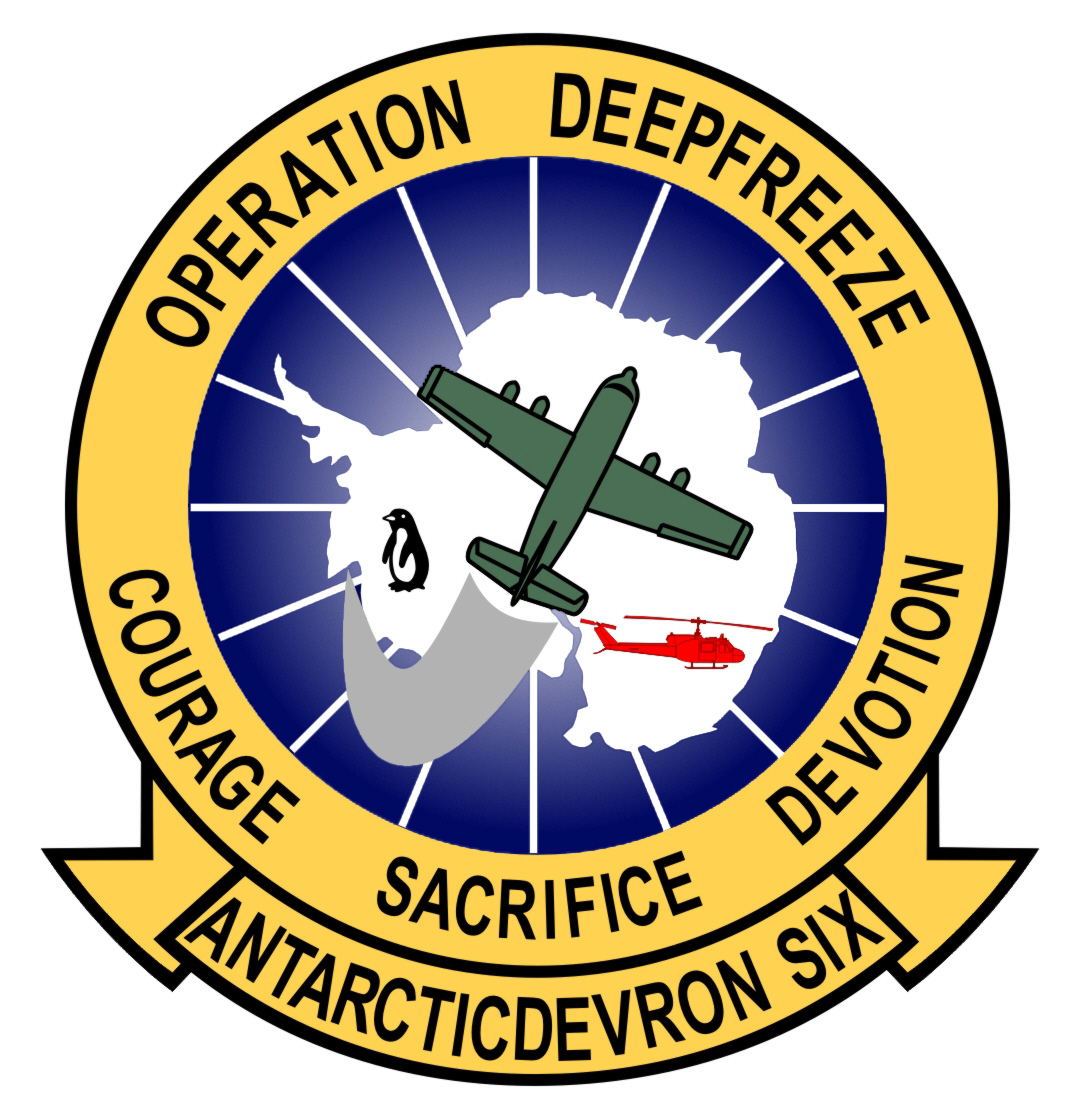 Squadron patch for the Navy Antarctic Development Squadron SIX (VXE-6), known as the Puckered Penguins.
