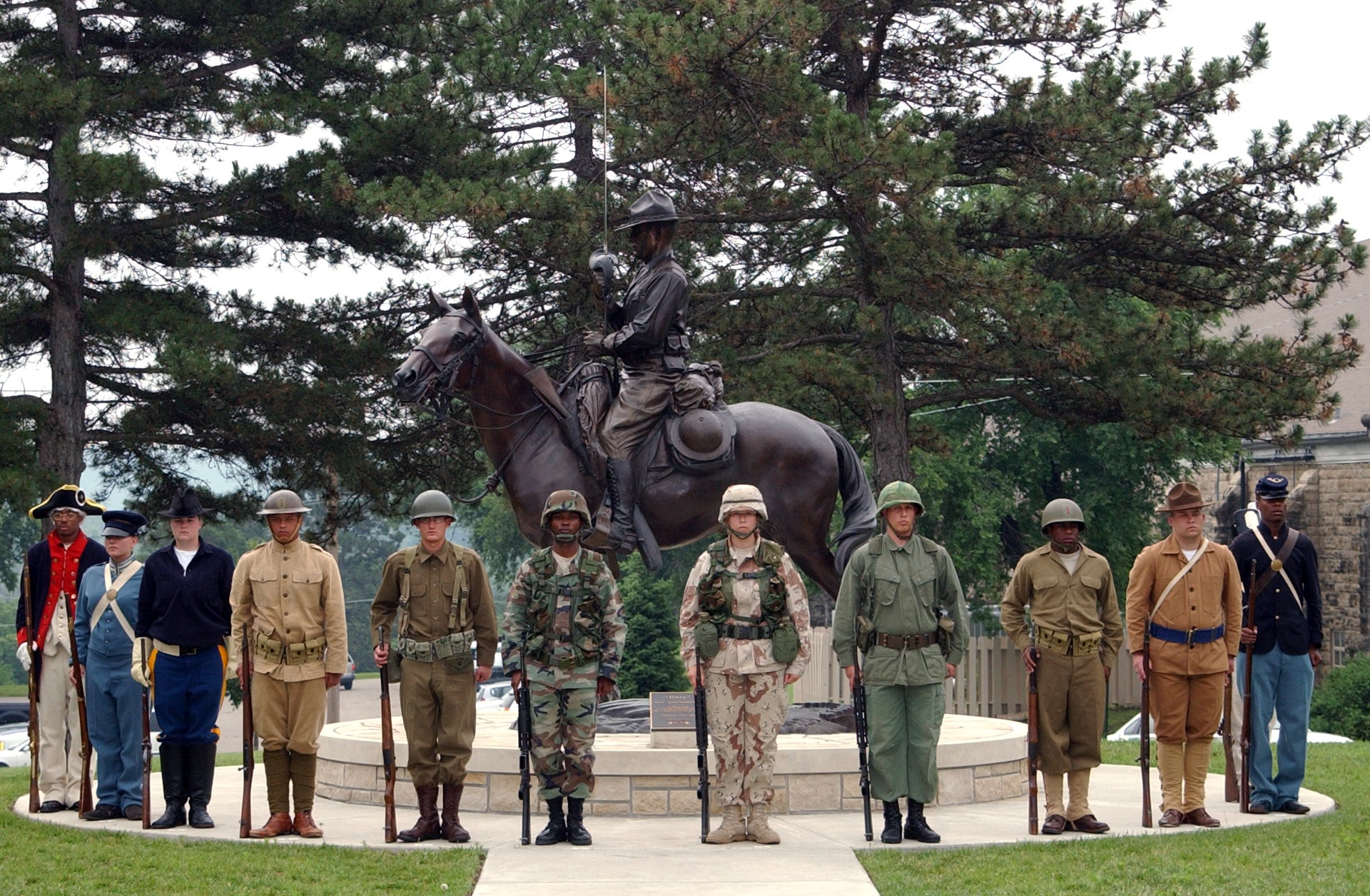 quotfort riley soldiers represent various periods in the army