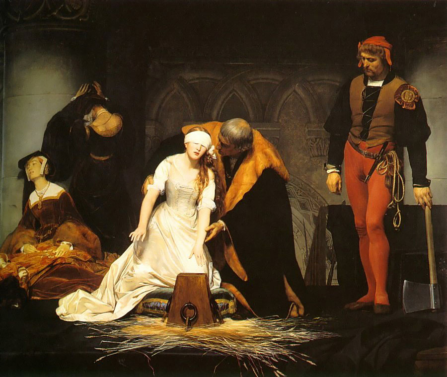 The Execution of Lady Jane Grey by Paul Delaroche. National Gallery, London