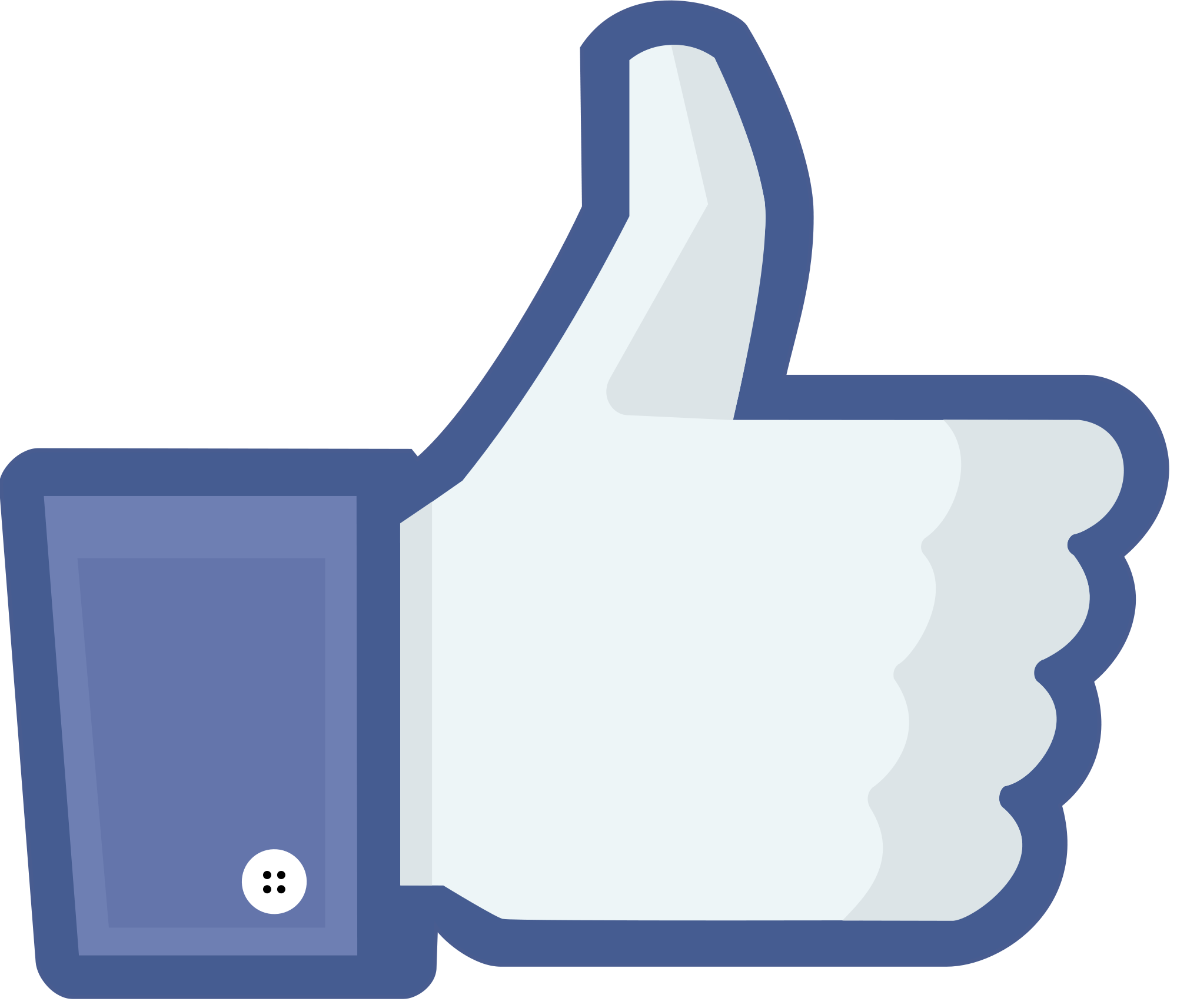 Facebook like button, Wikimedia, Public Domain
