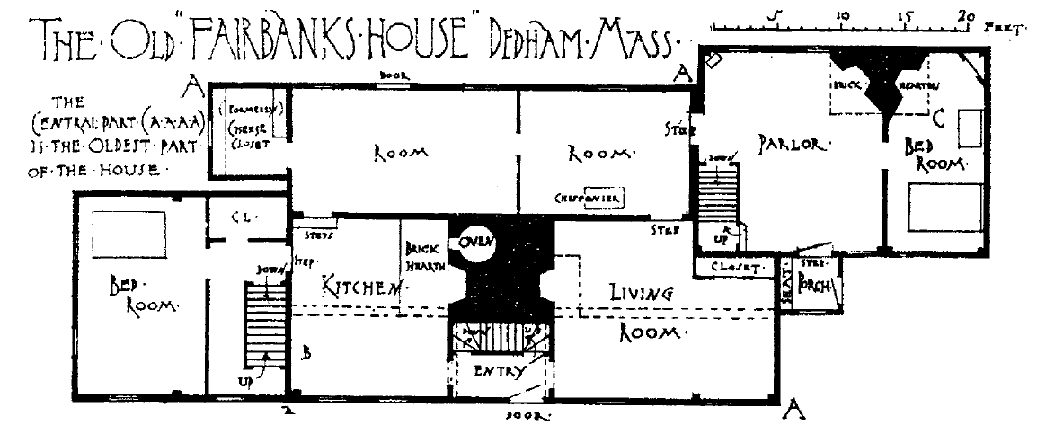 File Fairbanks House Dedham Floor Plan Png Wikipedia