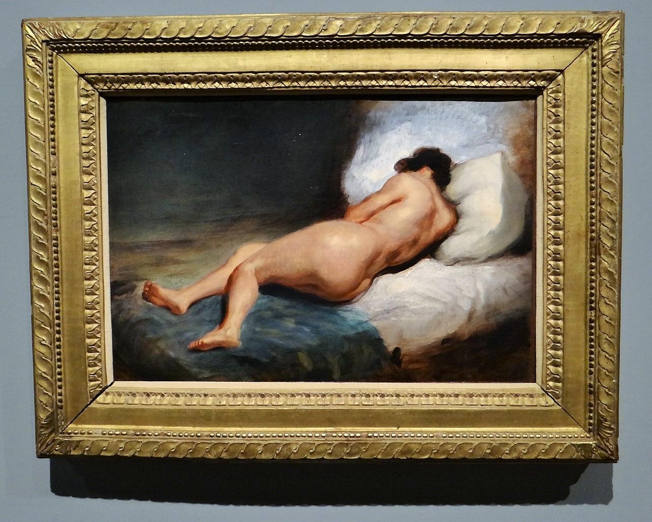 Femme Nue De Dos file:femme nue allongée vue de dos, eugène delacroix (2)