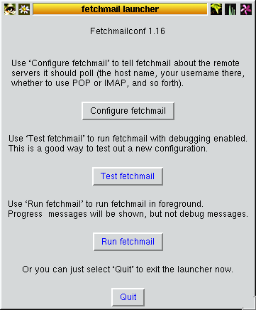 In this configuration fetchmail receives you email from the providers pop3/imap mailbox and delivers