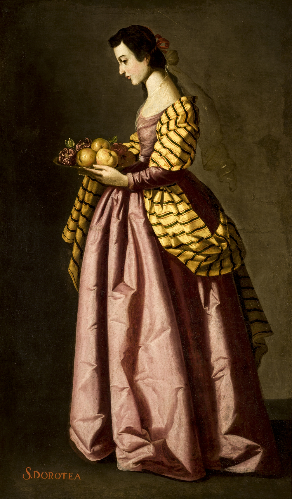 Francisco de Zurbarán (1598-1664): Den hellige Dorothea
