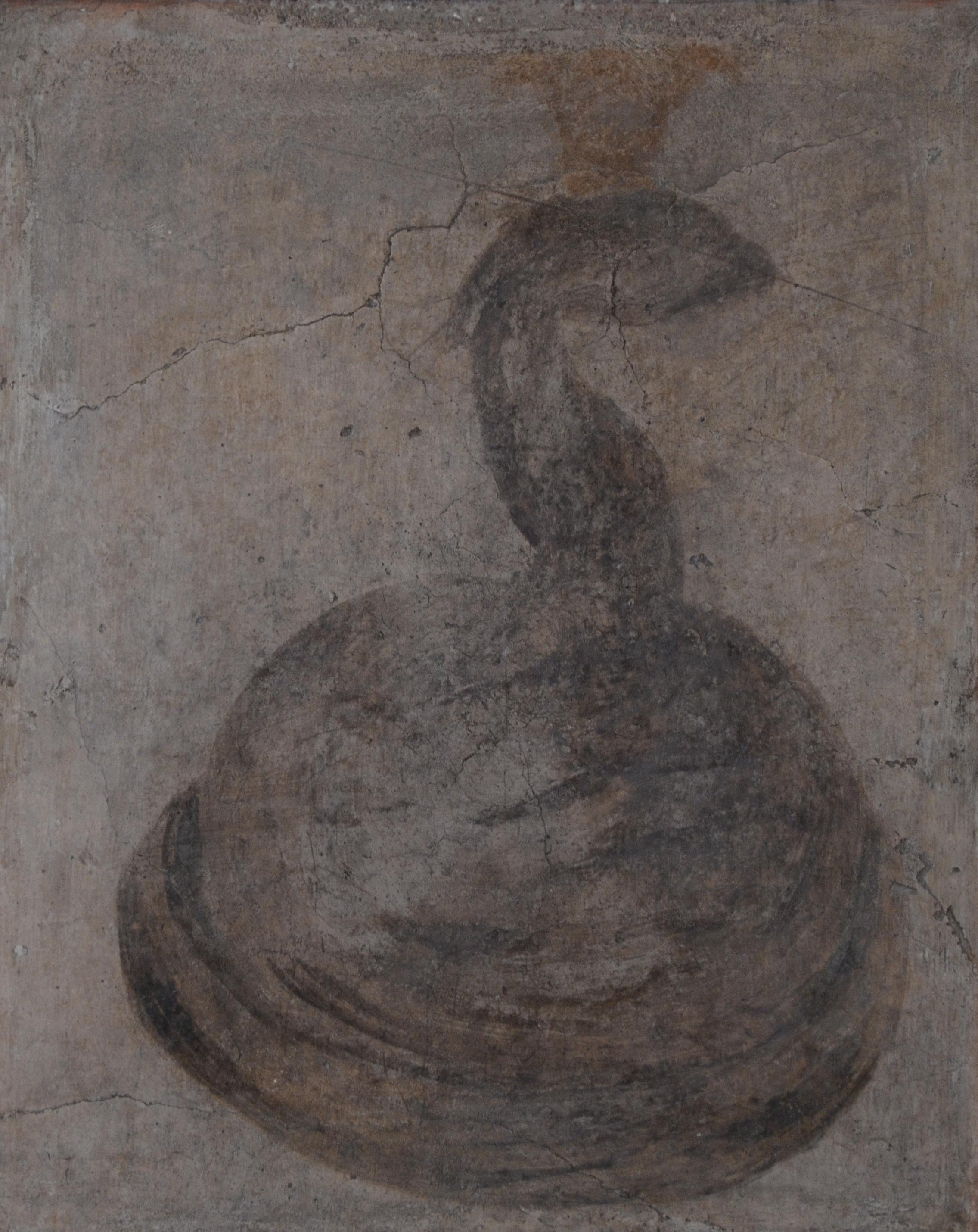 Filefresco From The Temple Of Isis In Pompeii Depicting A Cobra