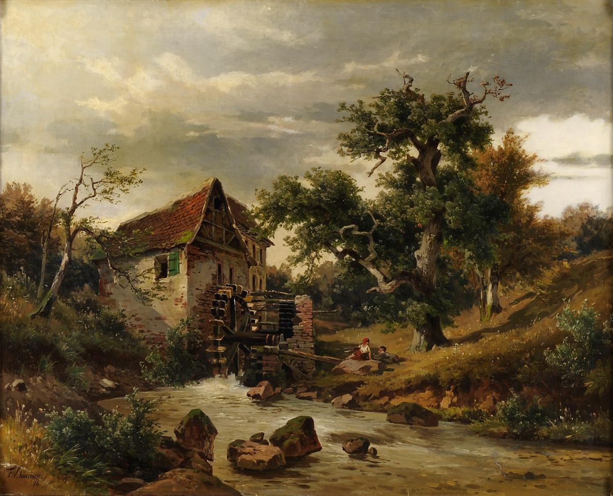 Die Schreiner file friedrich wilhelm schreiner die alte wassermühle 1896 jpg