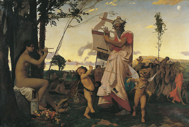 Anacreon, Bacchus and Eros