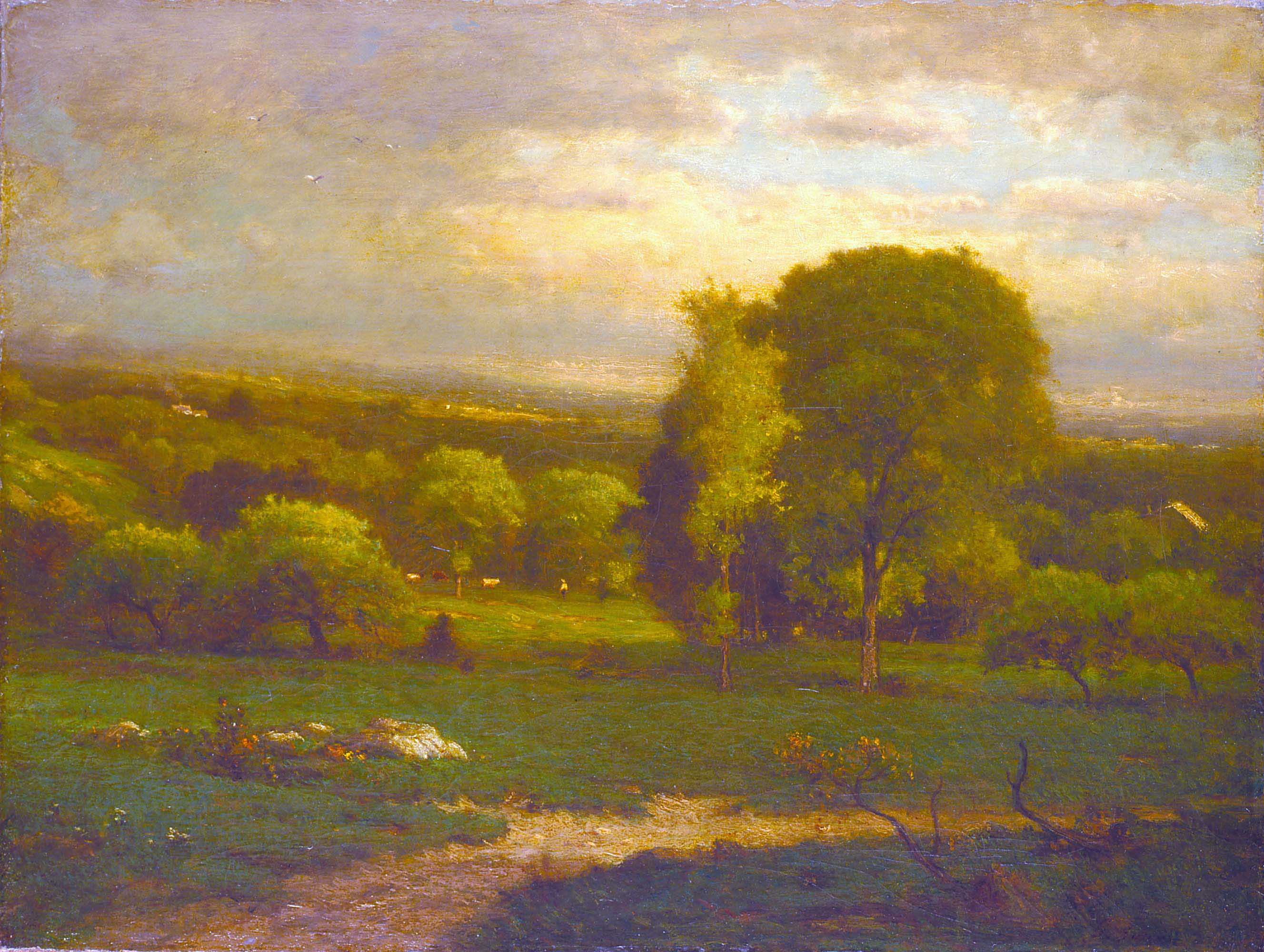 george inness early moonrise - HD 2655×2000