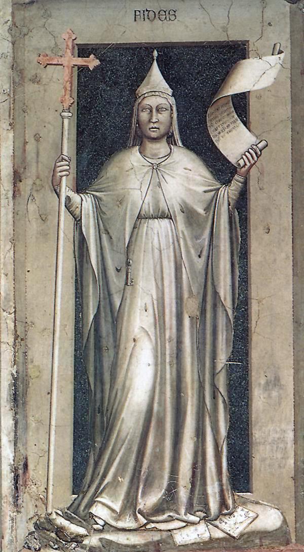 Giotto, virtù della fede, Cappella degli Scrovegni, Padova dans immagini