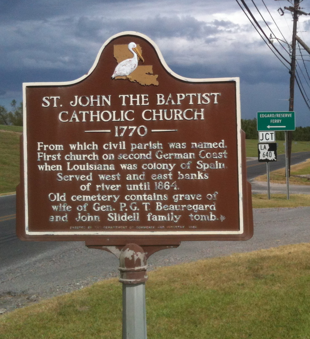 File:Great River Road Sign for St. John the Baptist ...