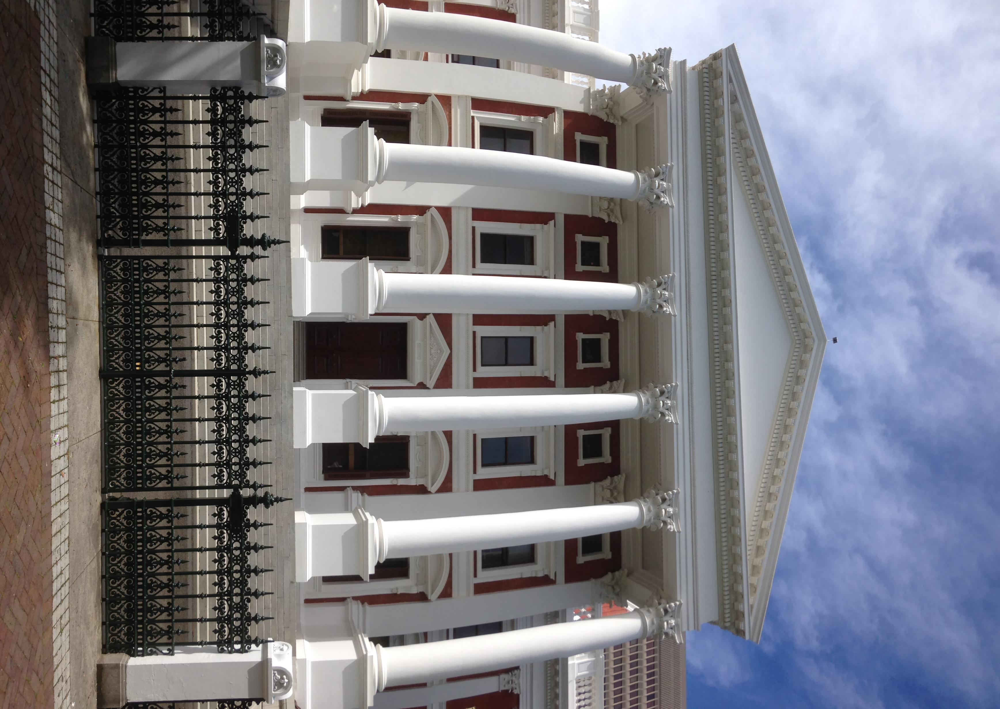 village parliament house behind Midget