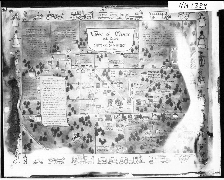 File Ilrated Map Of Miami University Campus And Oxford Ohio Ca 1928