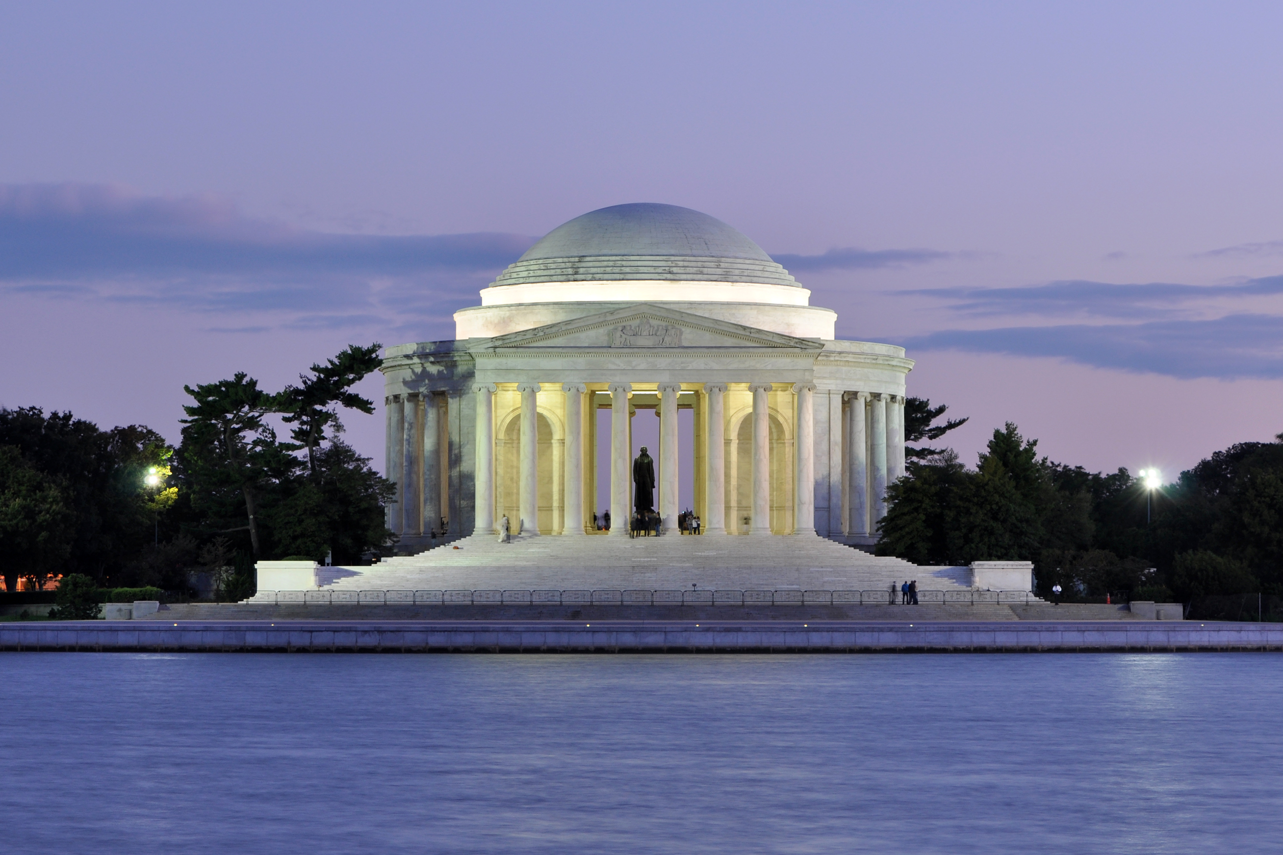Jefferson Memorial Facts Jefferson Memorial at Dusk 1