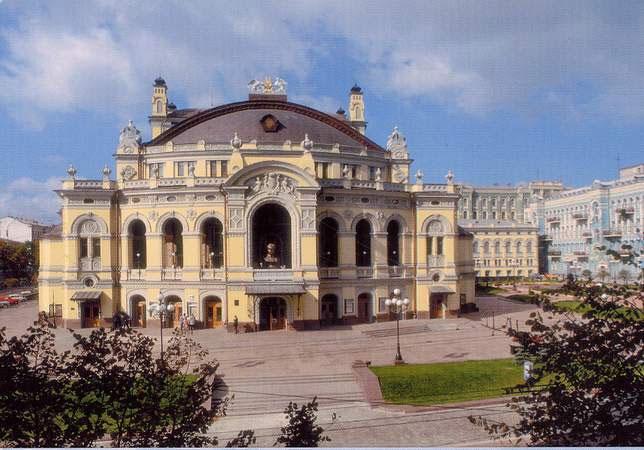 Ucrania mapa - Ópera de Kyiv