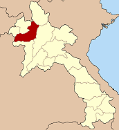 Map of Laos highlighting the province