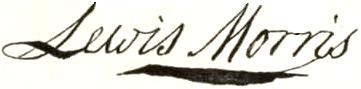 Lewis Morris Signature