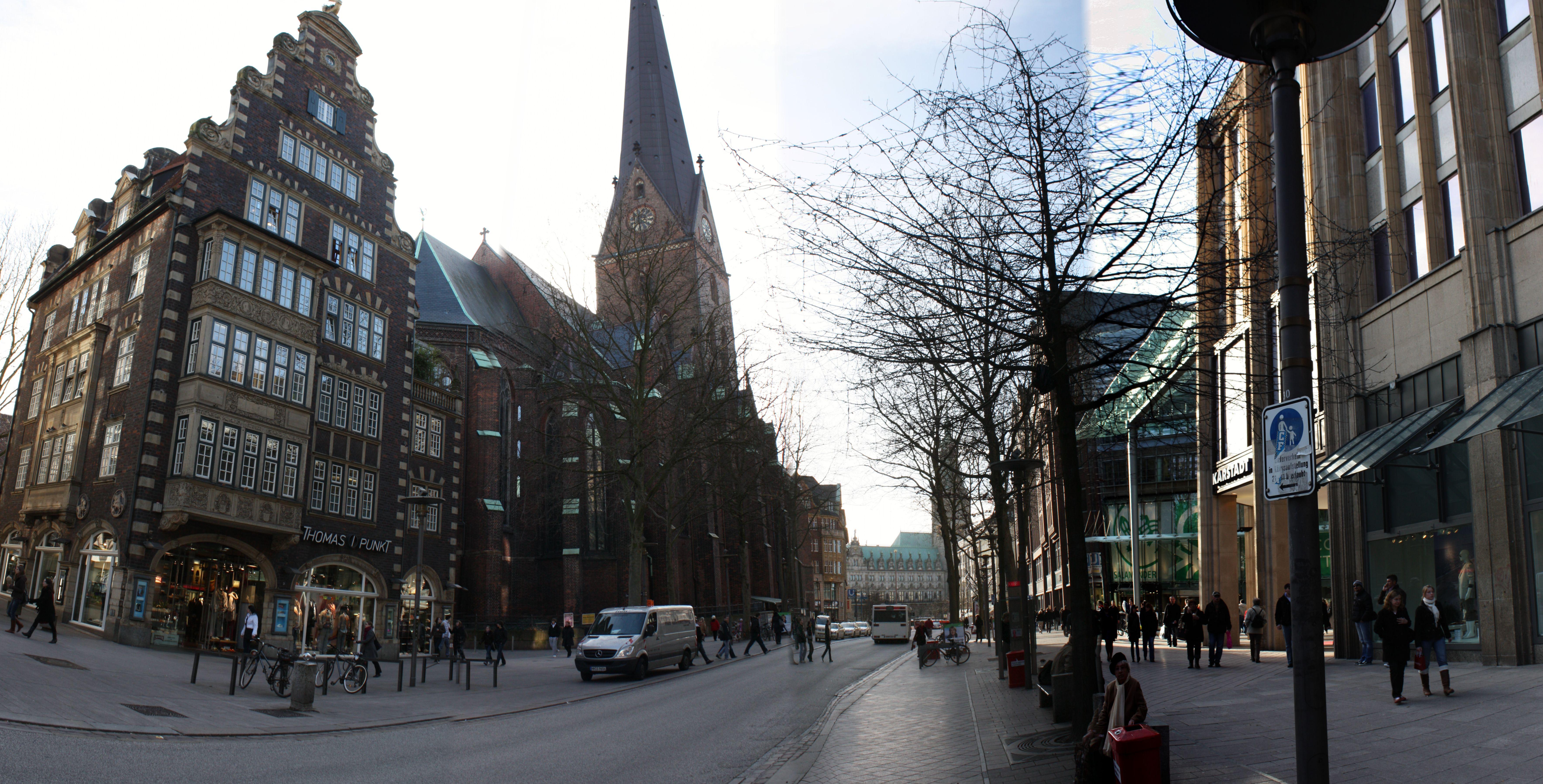 Hifi Hamburg Mönckebergstraße file mönckebergstraße st petri hamburg stitched jpg wikimedia commons