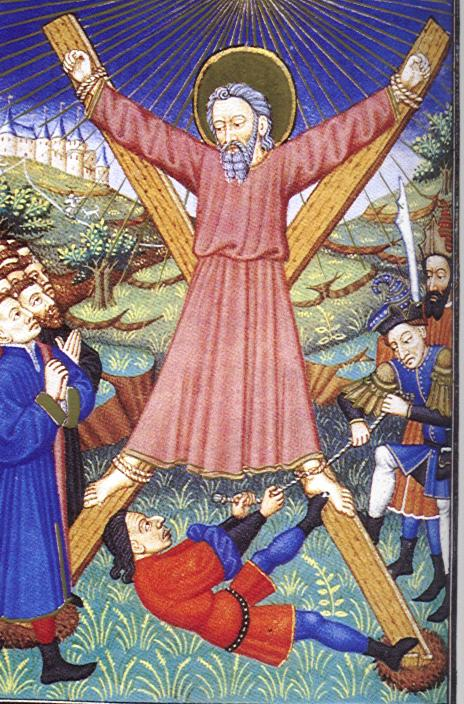 Crucifixion of St. Andrew. dans immagini sacre Martyrdom_of_andrew