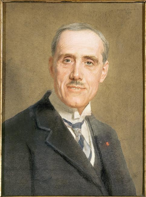Pastel drawing of Maurice de Broglie by [[Marcel Baschet]], 1932