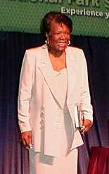 Maya Angelou at the Discovery 2000 conference.