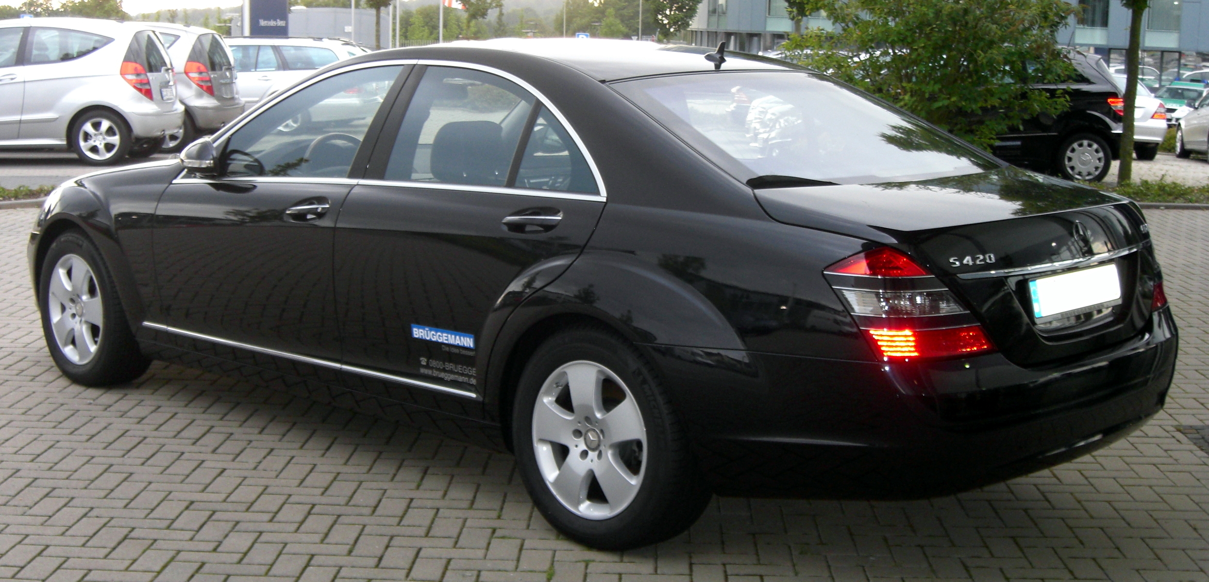 File Mercedes S 420 Cdi Rear Jpg Wikimedia Commons