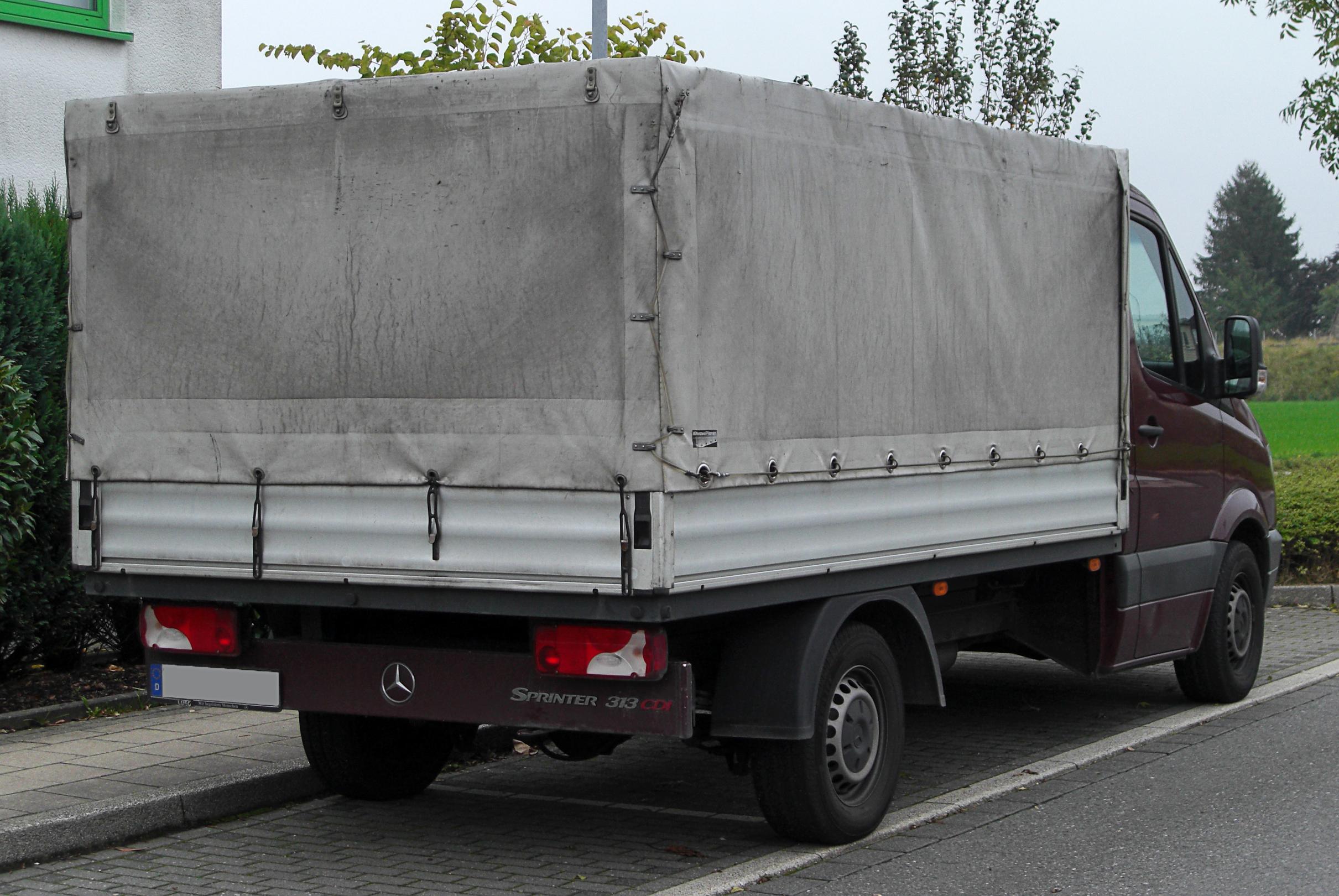 file mercedes sprinter 313 cdi pritschenwagen w906 rear. Black Bedroom Furniture Sets. Home Design Ideas