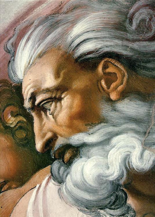 Yahweh, a Christian god painted on Michelangelo's painting