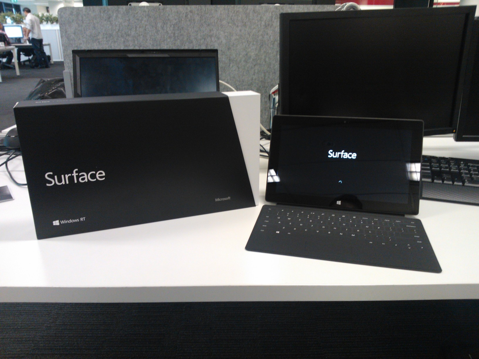 File:Microsoft Surface tablet computer and its box jpg