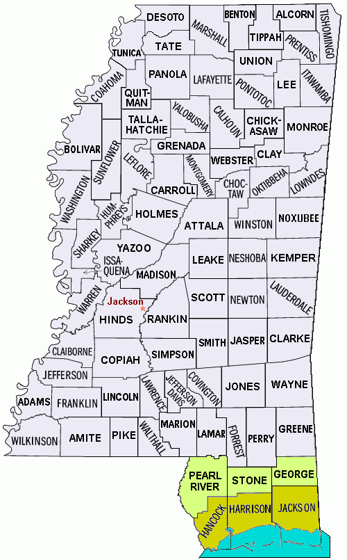 FileMississippi Counties Map Katrina Floodpng Wikimedia Commons - Mississippi counties map