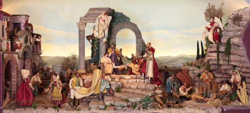 Personajes reales y esculturas de Divinidades en los sellos de Correos de España (1850-Abril de 2011) - Página 4 Nacimiento_napolitano