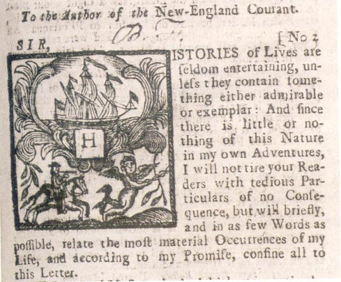 Language   Silence  Essays on Language  Literature   the Inhuman                   Massachusetts Historical Society   Silence Dogood  Benjamin Franklin in The  New England Courant