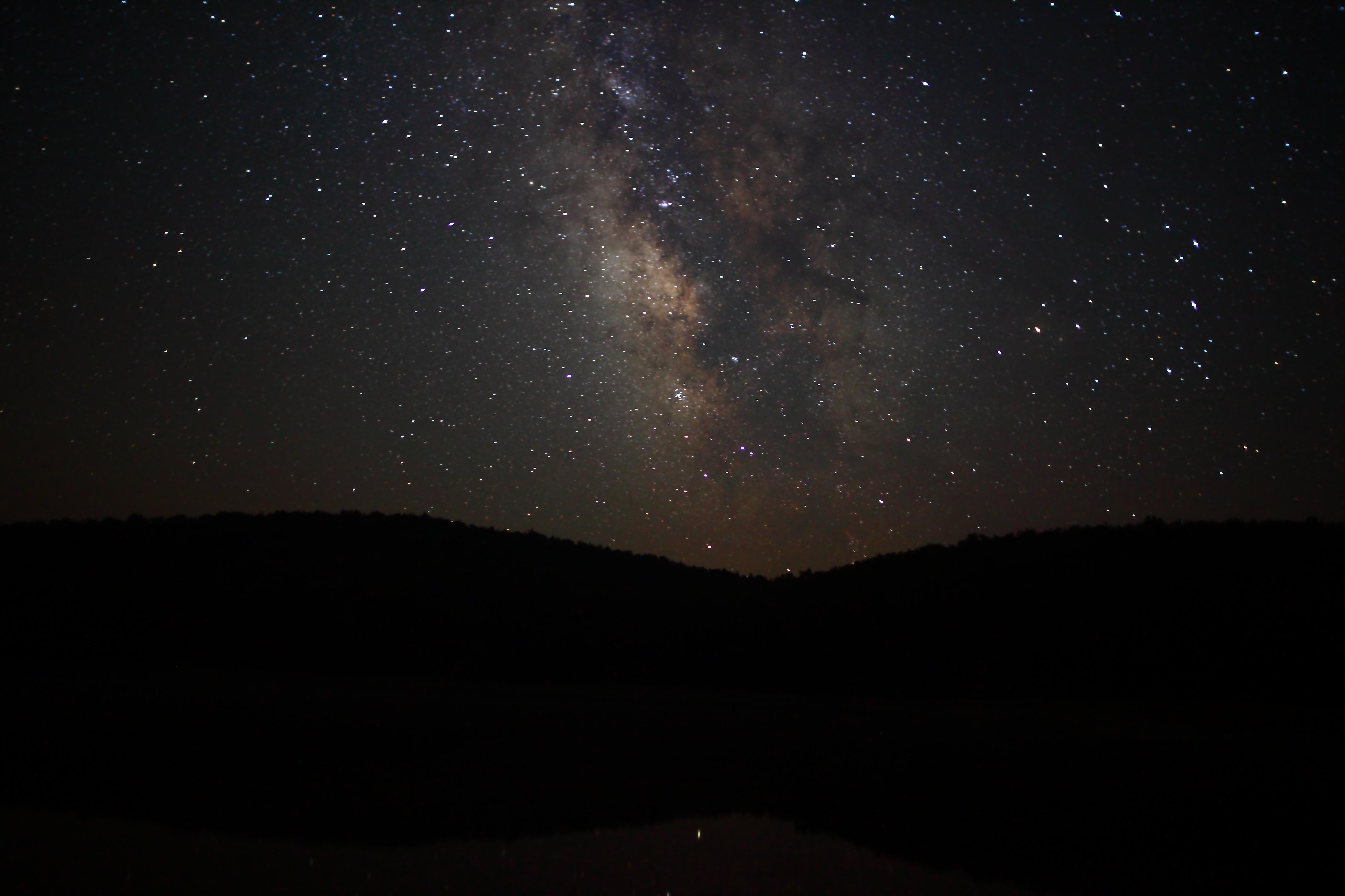 File night sky milky way stars hills west virginia forestwander