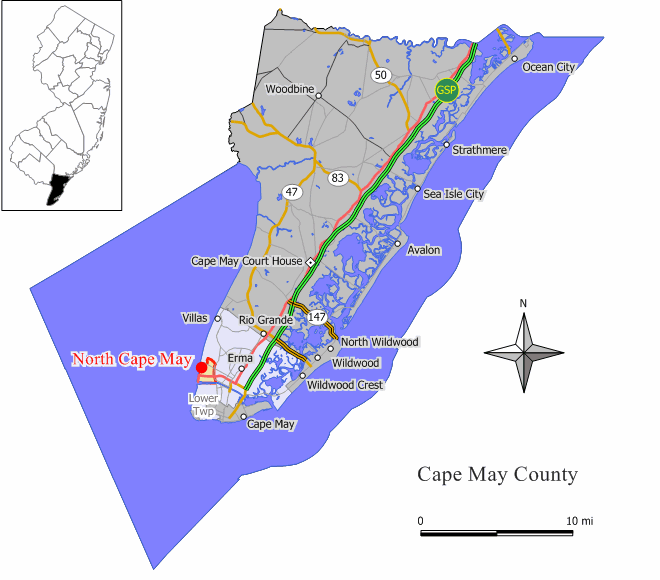 nj map by county with File North Cape May Cdp Nj 009 on File Hamilton Square  NJ likewise Eatontown additionally Place Detail also File ZCTA 07838 Great Meadows  New Jersey also Nj Countymap.