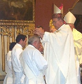 Catholic ordination ceremony