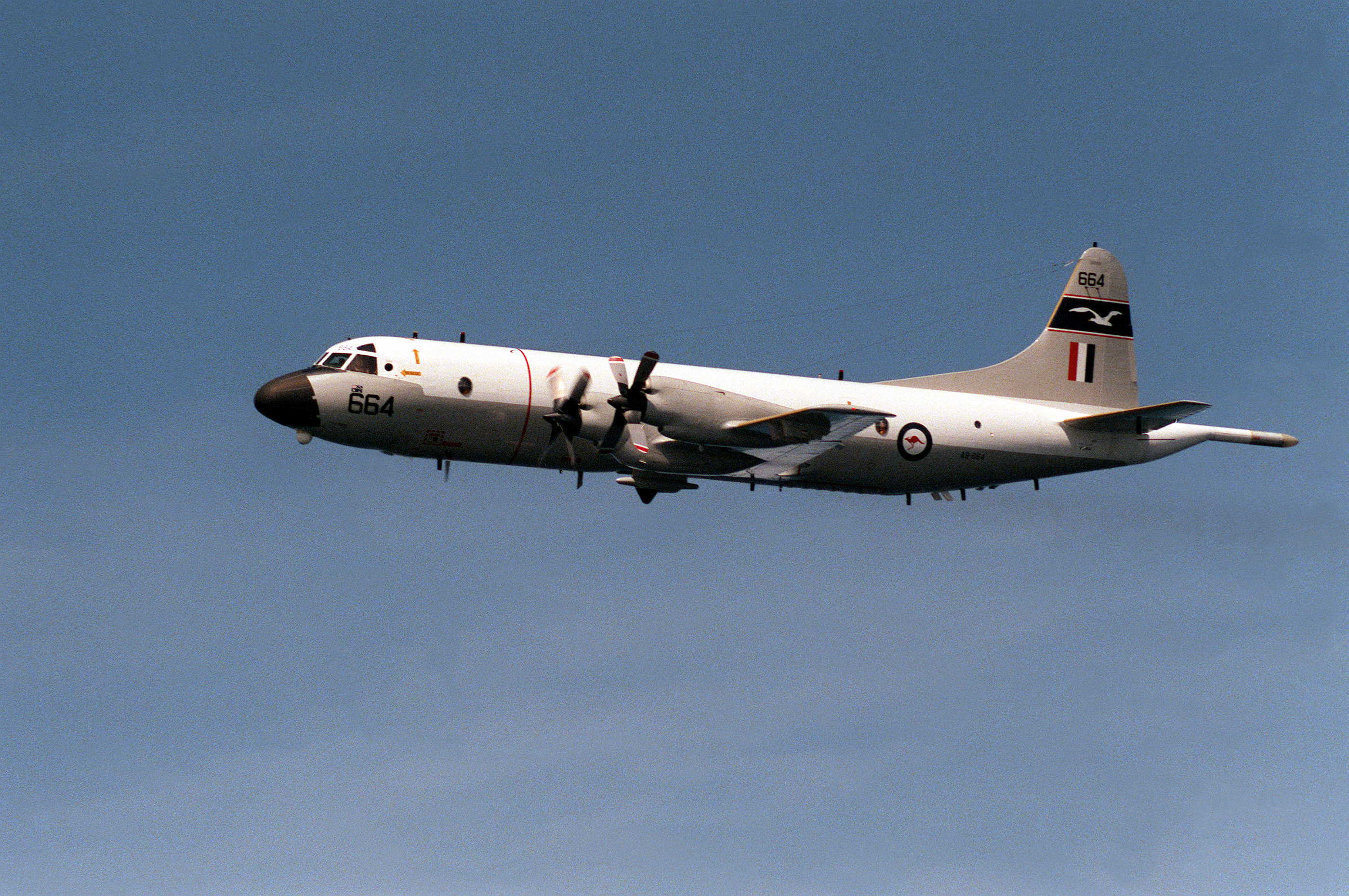Lockheed P 3 Orion Wikipedia Mad Max Engine Diagram 3c 11 Sqn Raaf In 1990