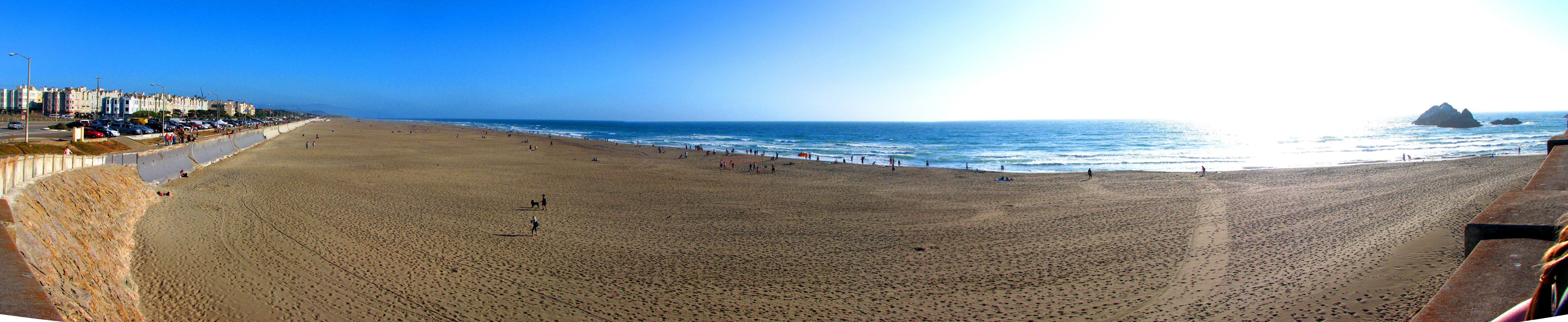 File:Panorama of Ocean Beach from Cliff house.jpg