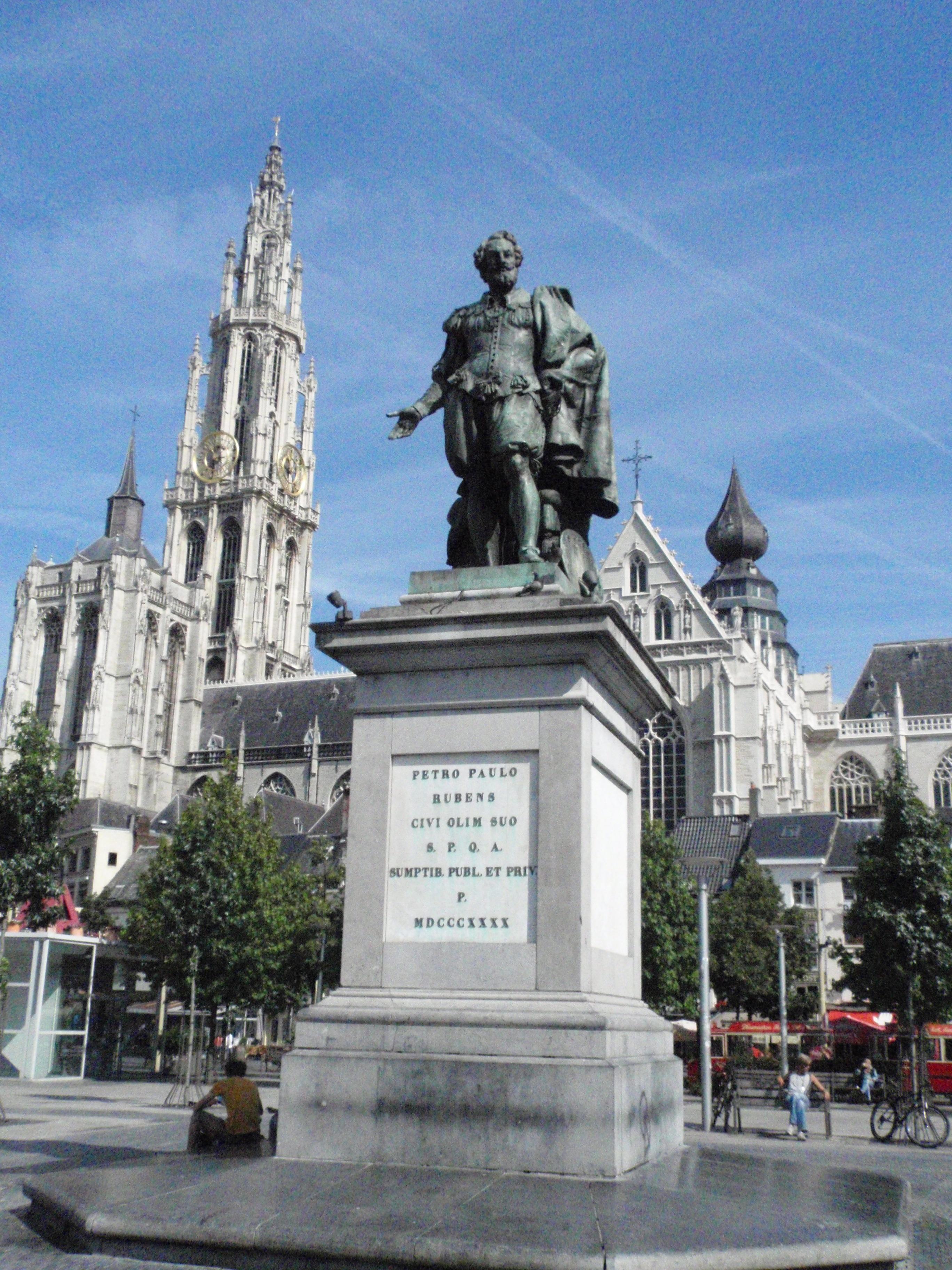 Belgija Peter_Paul_Rubens_(statue)