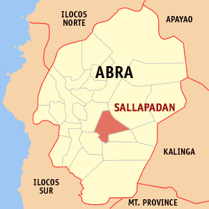 Map of Abra showing the location of Sallapadan
