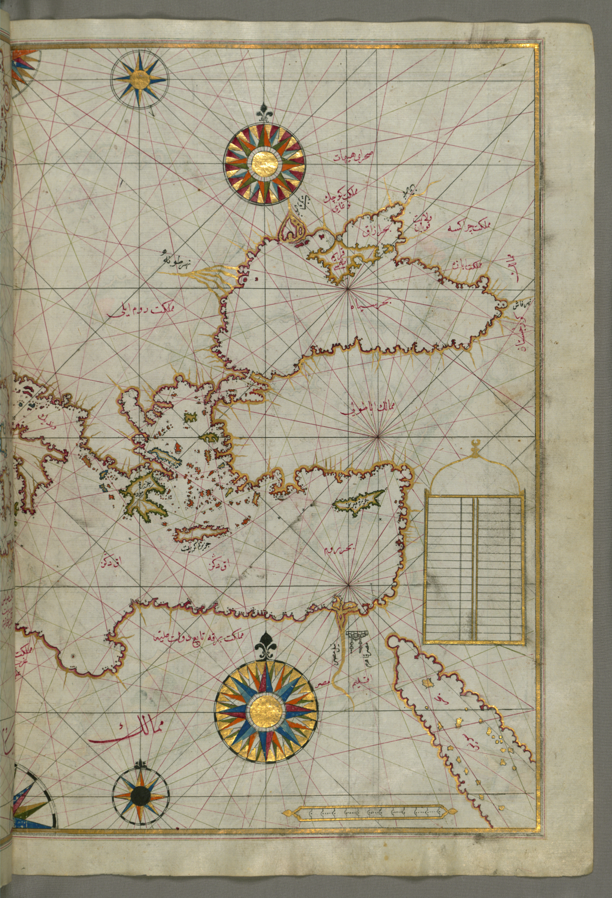 FilePiri Reis  Map of the Eastern Mediterranean Aegean and the